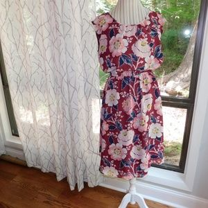 Loft floral summer dress, large.